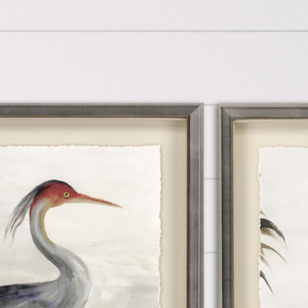 Blue 44 H x 35 W-Inch Grey Heron Wall Art, image 3