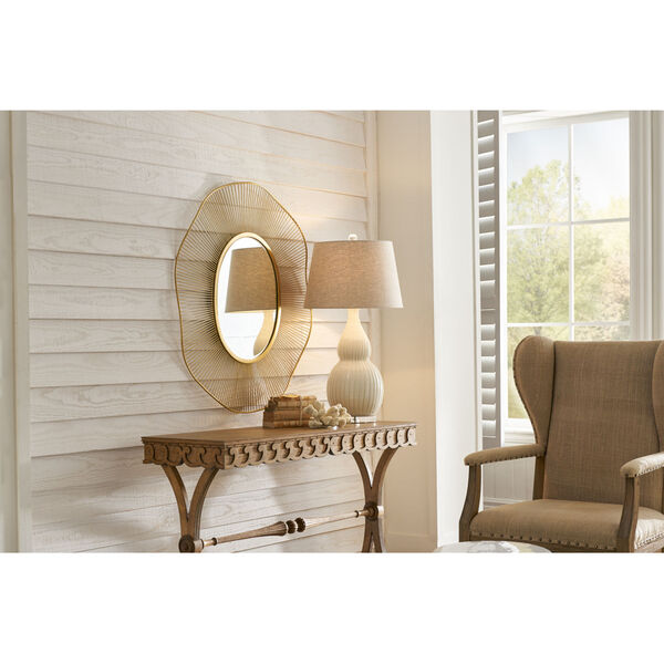 White and Gold 35-Inch Luton Mirror, image 3