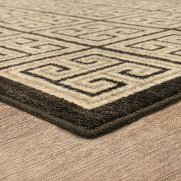 Meander Gray Charcoal Geometric Rectangular: 3 Ft. x 5 Ft. Area Rug, image 4