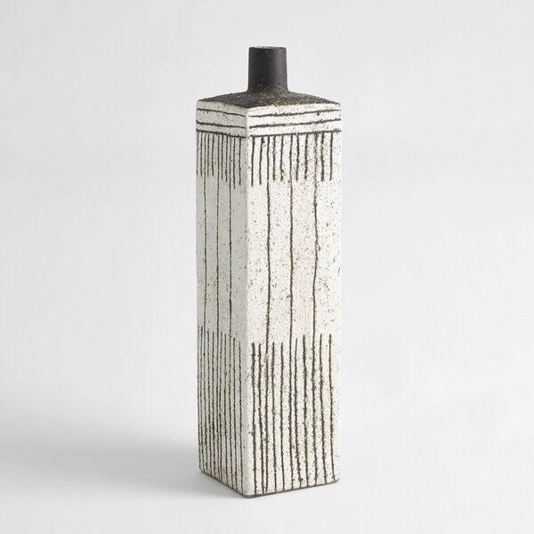 White Graffiti Square Vase, image 2