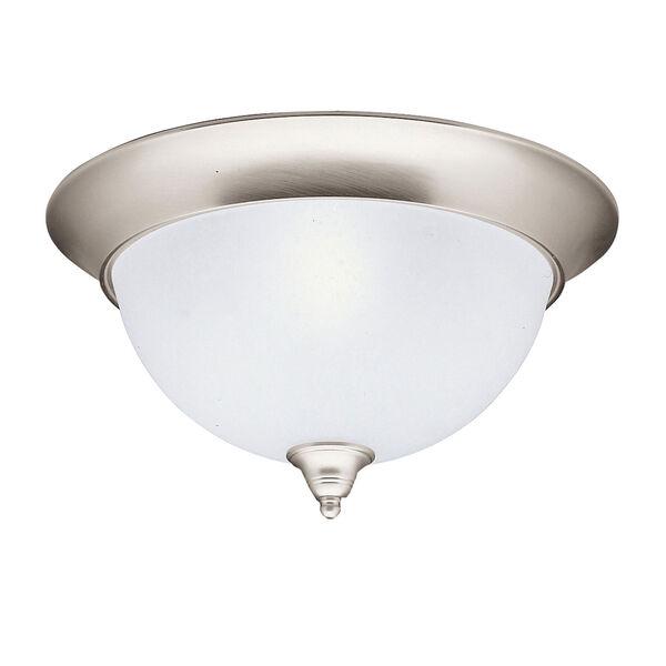 Dover Brushed Nickel Large Flush Ceiling Light , image 1