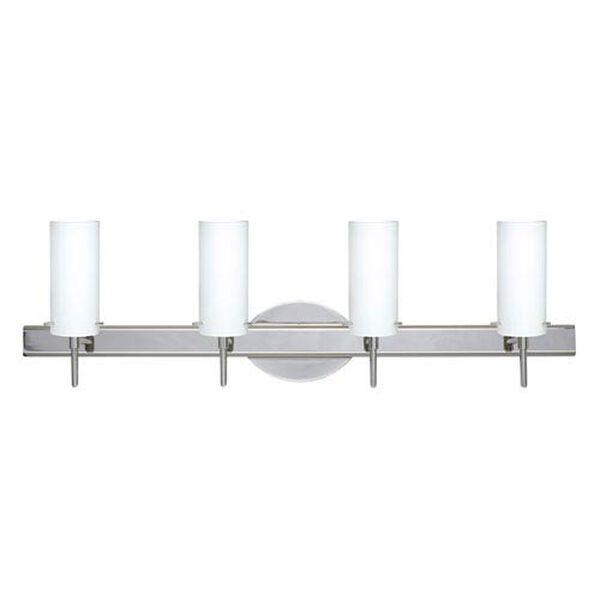 Copa 3 Chrome Four-Light LED Bath Vanity with Opal Matte Glass, image 1