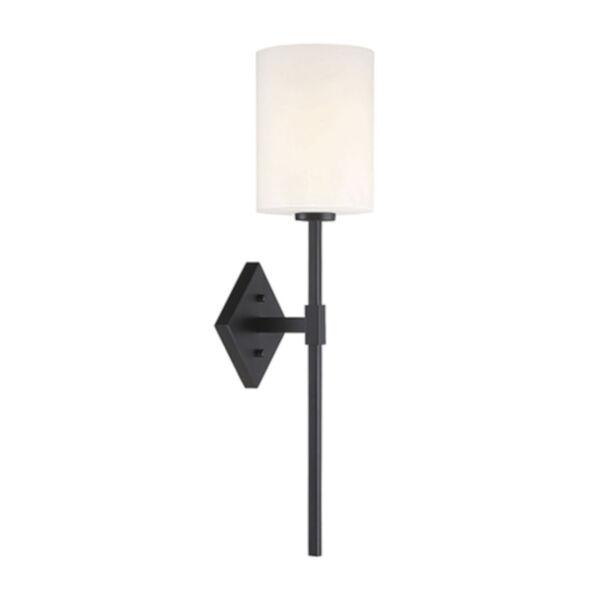 Anita Matte Black One-Light Wall Sconce, image 1