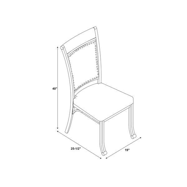 Elizabeth Pewter Dining Side Chair, Set of 2, image 2