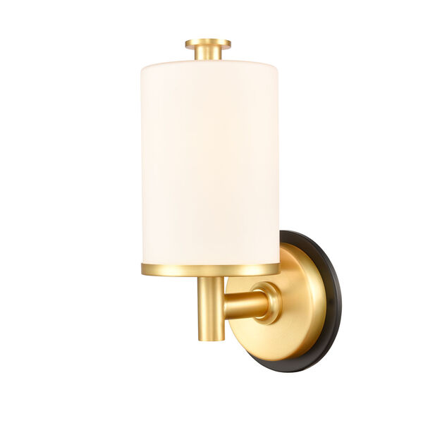 Marlowe Matte Black Satin Gold LED Bath Vanity, image 1