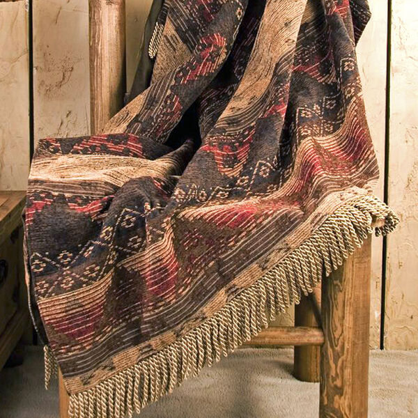 Sierra Brown, Red and Tan Throw, image 1
