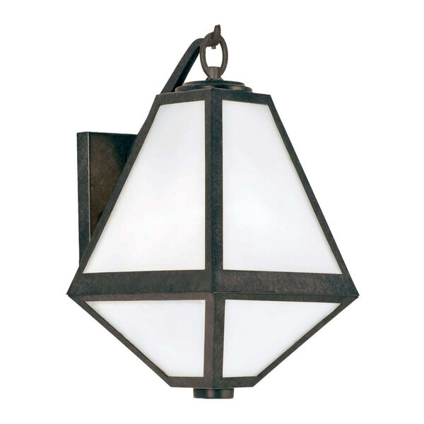 Glacier One-Light Black Charcoal Outdoor Wall Mount, image 1