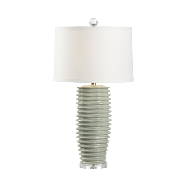 Colorado Mint Green and Polished Nickel One-Light Table Lamp, image 1