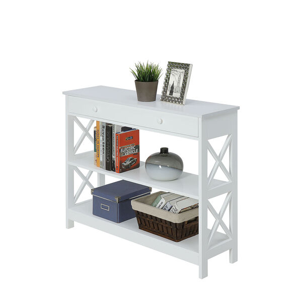 Oxford 1 Drawer Console Table, White, image 3