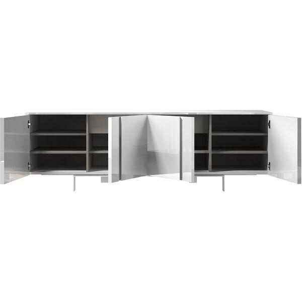 Mott Glossy White Sideboard, image 2