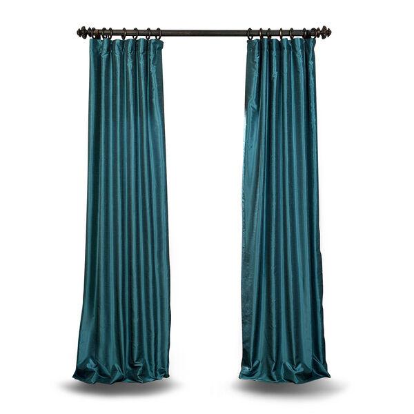 Teal 120 x 50 In. Faux Dupioni Silk Single Panel Curtain, image 1