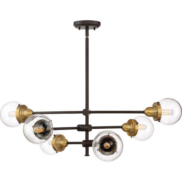 Nicollet Bronze Six-Light Chandelier, image 5