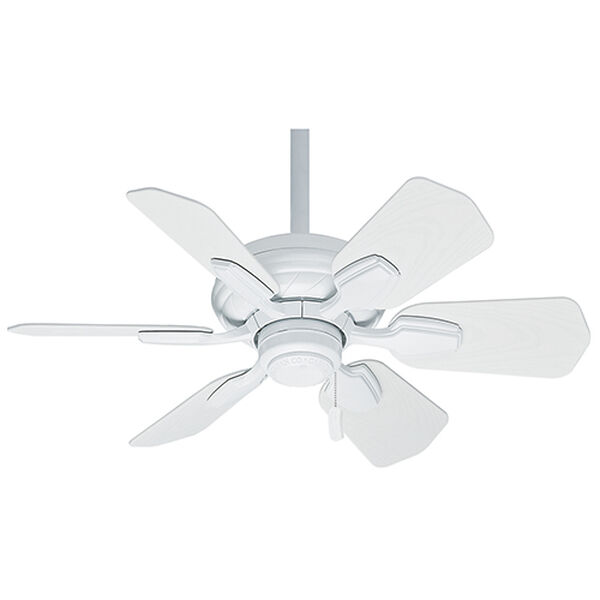 Wailea Snow White 31-Inch Outdoor Ceiling Fan, image 1