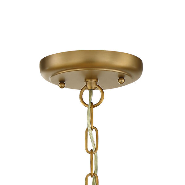 Calypso One-Light Vibrant Gold Mini Chandelier, image 4
