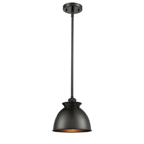 Ballston Matte Black Eight-Inch LED Mini Pendant with Matte Black Metal Shade, image 1