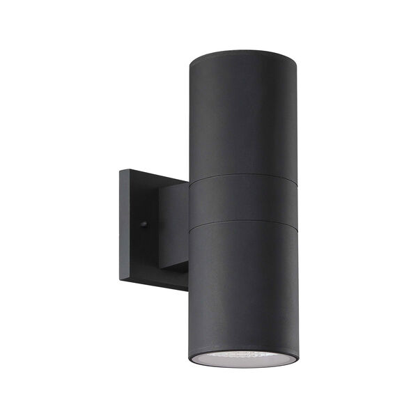 Textured Matte Black LED Outdoor Wall Sconce, image 2