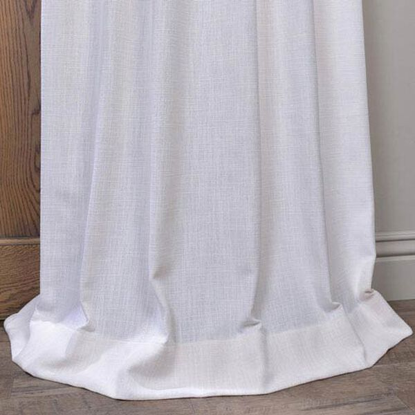 White 96 x 50-Inch Grommet Curtain Single Panel, image 3