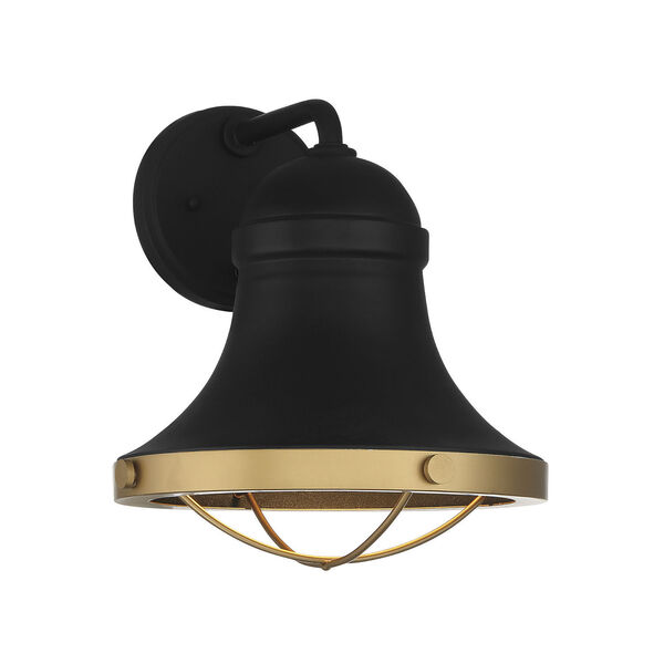 Belmont Textured Black and Warm Brass One-Light Wall Sconce, image 1