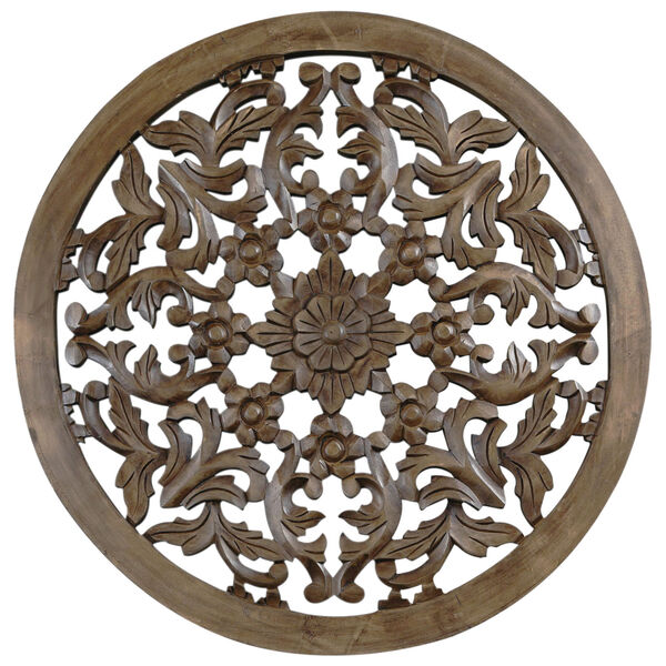 30-Inch Light Brown Solaris Four Wooden Wall Panel, image 1