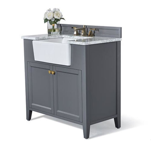Adeline Sapphire 36-Inch Vanity Console with Farmhouse Sink, image 1