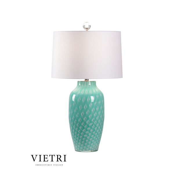 Antigua Mint Green and White One-Light Table Lamp, image 1