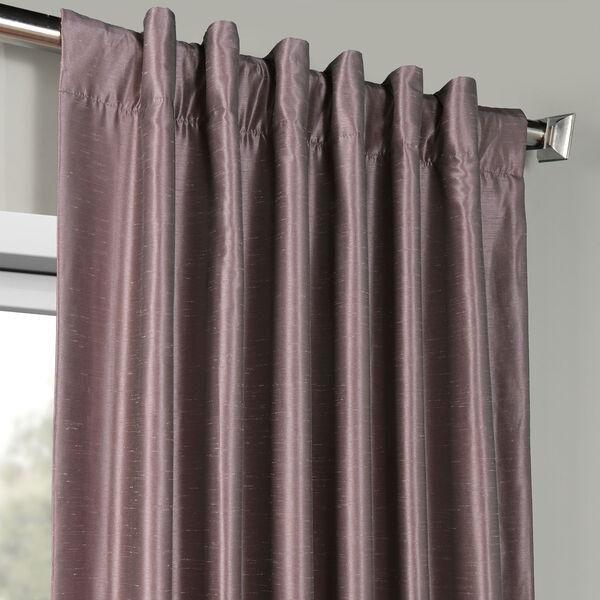 Smoky Plum Vintage Textured Faux Dupioni Silk Single Panel Curtain, 50 X 108, image 4
