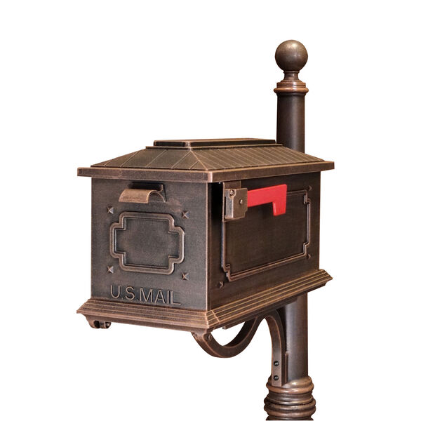 Kingston Copper Curbside Mailbox - (Open Box), image 1
