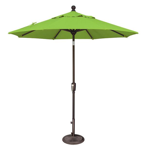 Catalina 7.5 Foot Sunbrella Gingko Octagon Push Button Tilt, image 1
