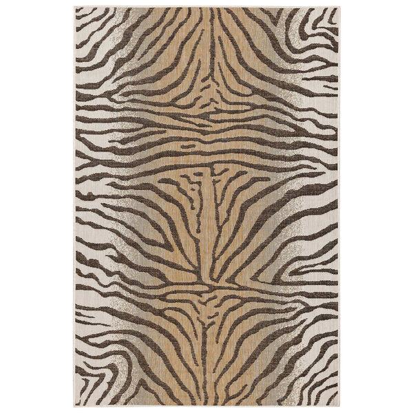 Carmel Sand Zebra Indoor/Outdoor Rug, image 1