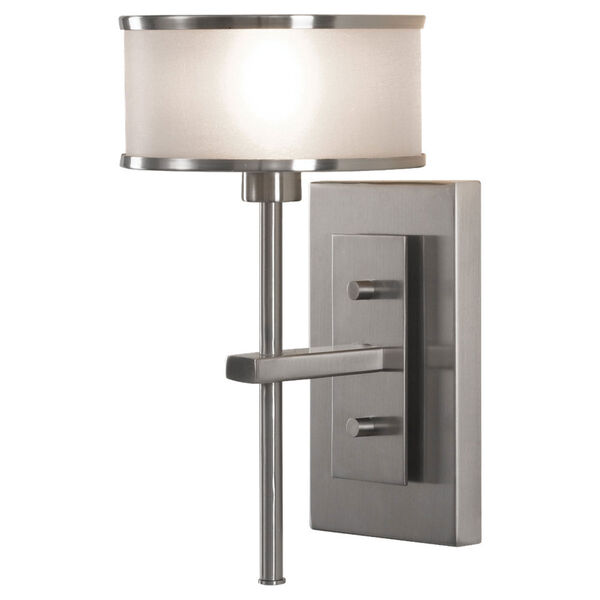 Casual Luxury Brushed Steel One-Light Sconce, image 1