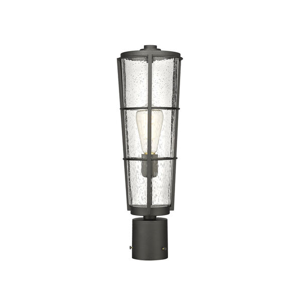Helix Black 20-Inch One-Light Outdoor Post Mount, image 1