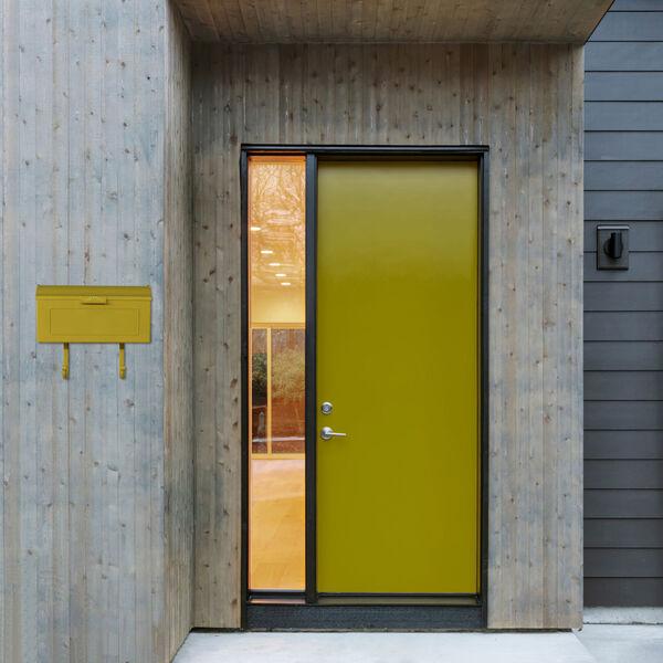 Nash Yellow Horizontal Mailbox, image 4