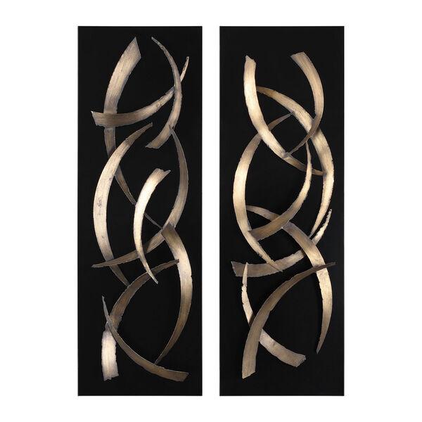 Brushstrokes Metal Wall Art, Set of 2, image 2