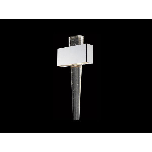 Glacier Avenue Polished Nickel 11-Inch LED Wall Sconce, image 1