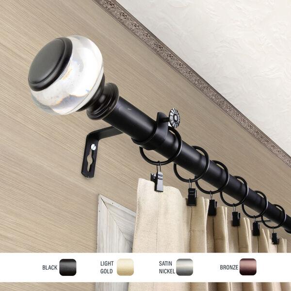Ironwood Black 160-240 Inch Curtain Rod, image 3