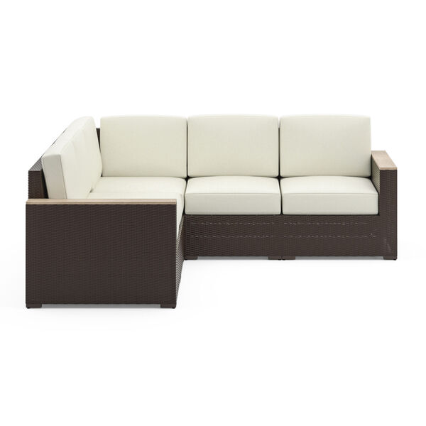 Palm Springs Brown Patio Five-Seat Sectional, image 3