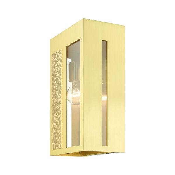 Lafayette Satin Brass One-Light Outdoor Wall Lantern, image 5