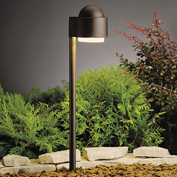 Textured Architectural Bronze 21-Inch One-Light Landscape Side Mount Path Light, image 1