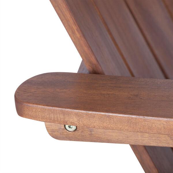 Acacia Adirondack Chair - Dark Brown, image 5