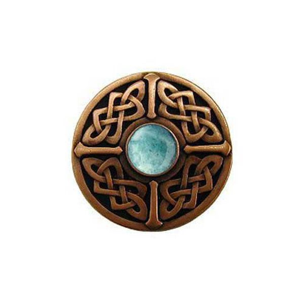 Copper Green Aventurine Celtic Jewel Knob , image 1