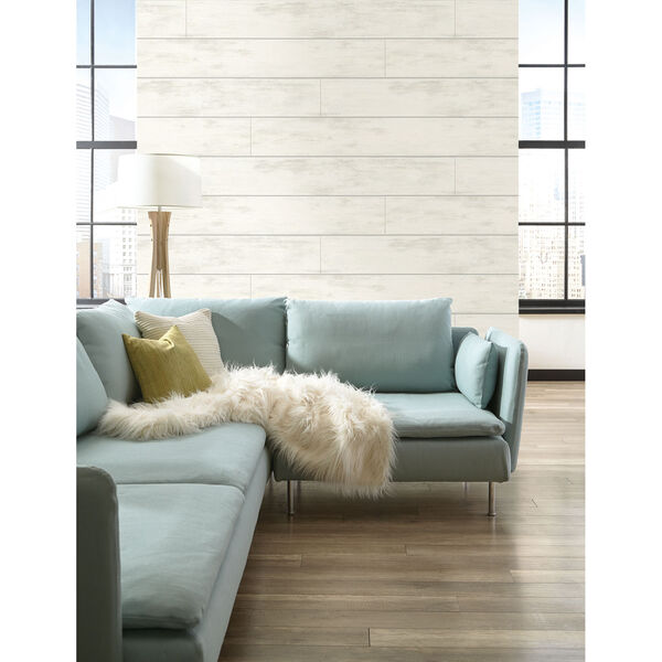 Shiplap White and Gray Removable Wallpaper, image 10