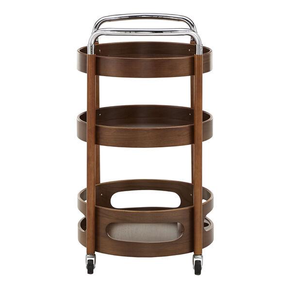 Adora Walnut Round Bar Cart, image 3