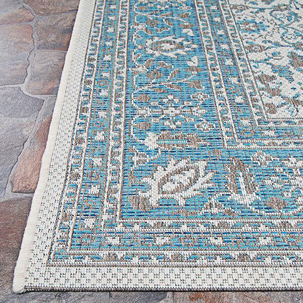 Marseille Carmoux Azure Rectangular: 5 Ft. 10 In. x 9 Ft. 2 In. Indoor/Outdoor Rug, image 4