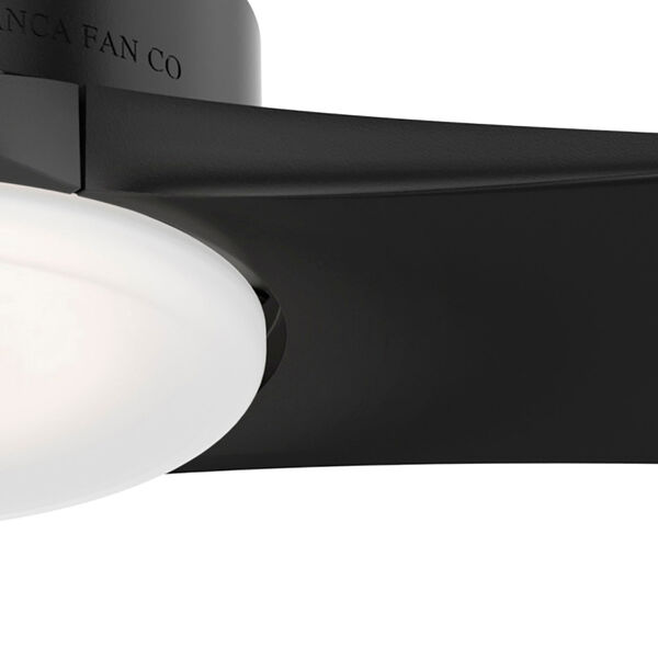 Piston Matte Black 52-Inch LED Outdoor Ceiling Fan with Handheld Remote, image 5