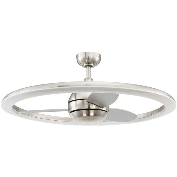 Anillo Brushed Polished Nickel Ceiling Fan with LED Light, image 1