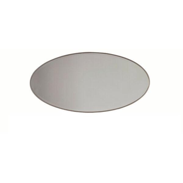 Alexandra White Oval Mirror, image 2