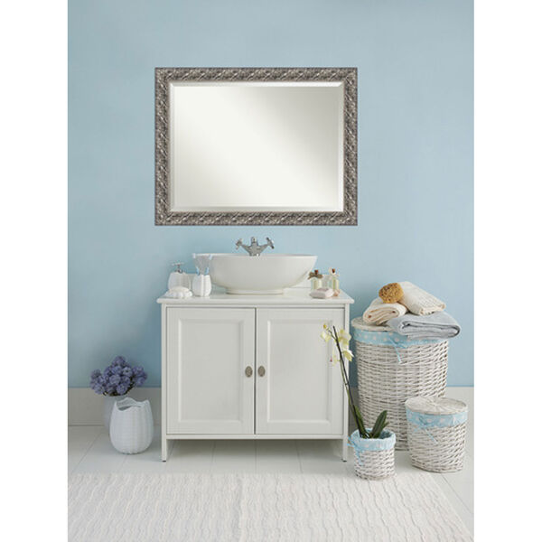 Silver Luxor 48 x 36 In. Bathroom Mirror, image 4