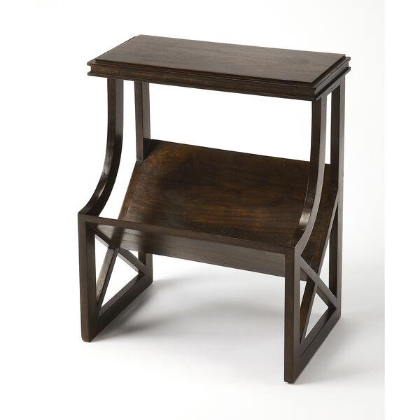 Butler Loft Pascal Dark Brown Wood Book Table, image 1
