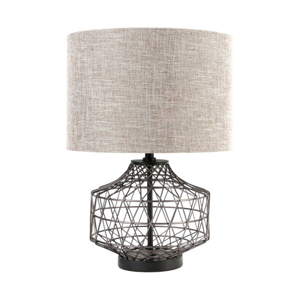 Clark Bronze and Beige One-Light Table Lamp, image 1