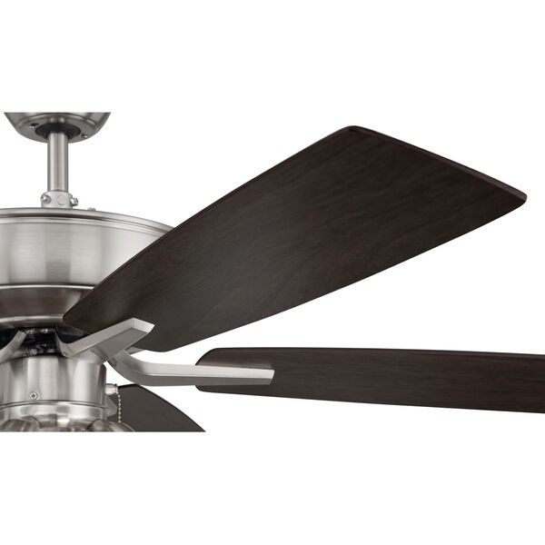 Pro Plus Brushed Polished Nickel 52-Inch Four-Light Ceiling Fan with White Frost Bell Shade, image 7